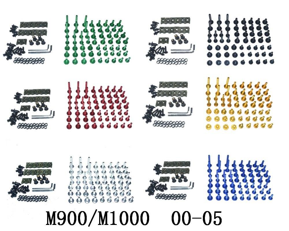 Мотоцикл Полный Обтекатель Болты Комплект болты для кузовных работ для подходит DUCATI M900/M1000 2000-2005