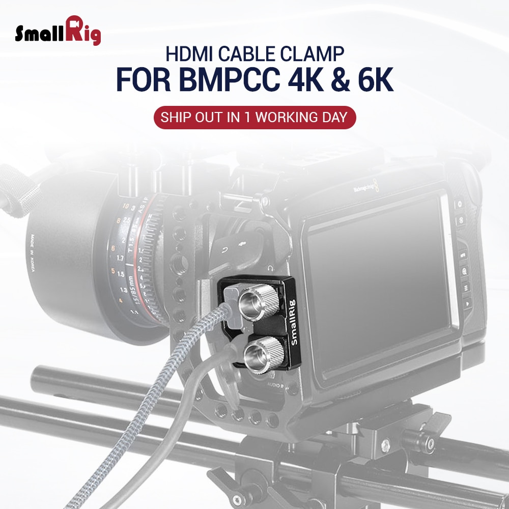 Smallrig câmera hdmi & USB-C braçadeira de cabo para bmpcc 4 k/bmpcc 6 k câmera 2246