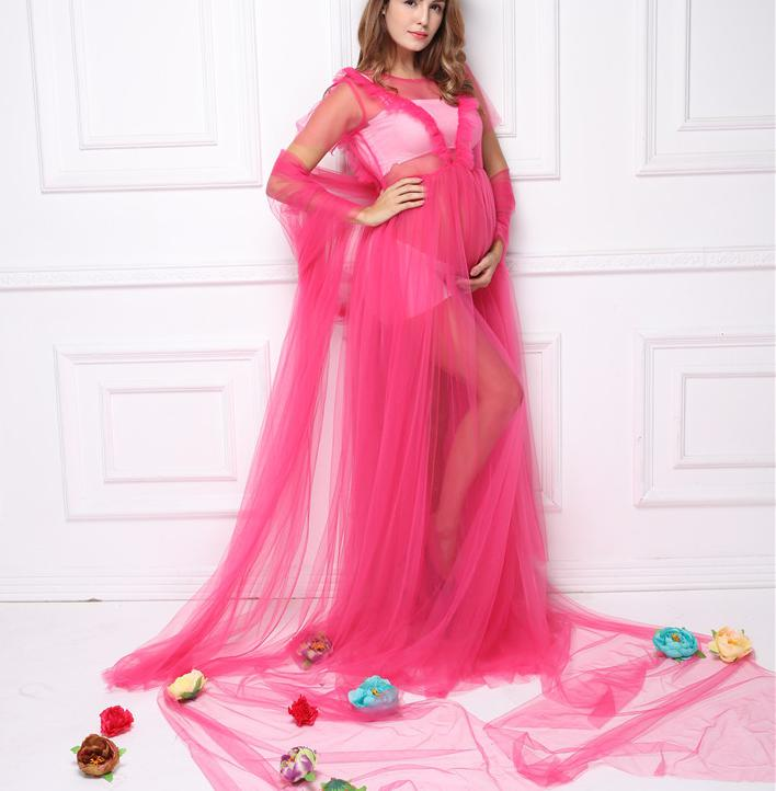 Maternity Dress For Photo Shoot Maxi Dress Photographie Long Maternity Photography Props Big Size Pregnant Gown For Photo Shoot enlarge