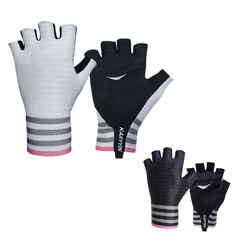 new women lace sunscreen gloves autumn spring lady stretch touch screen anti uv slip resistant driving glove breathable guantes New Pro Aero Mesh Stripe Road Cycling Gloves Breathable Men Women Sports Bike Gloves Anti-slip Shockproof Guantes Ciclismo