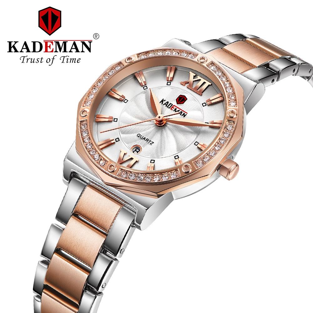 KADEMAN Luxury Women Watch Stainless Steel Casual Bracelet Quartz Wrist Watch Women Watches Clock Reloj Mujer Relogio Feminino enlarge