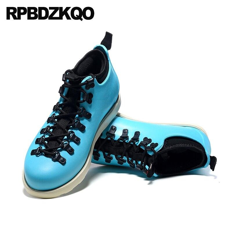 مدرب المطاط الصيد الأحذية الرجال الدانتيل يصل الأخضر المطر الكاحل إسفين الجوارب التمويه عارضة أحذية Pvc عالية أعلى أحذية رياضية للماء