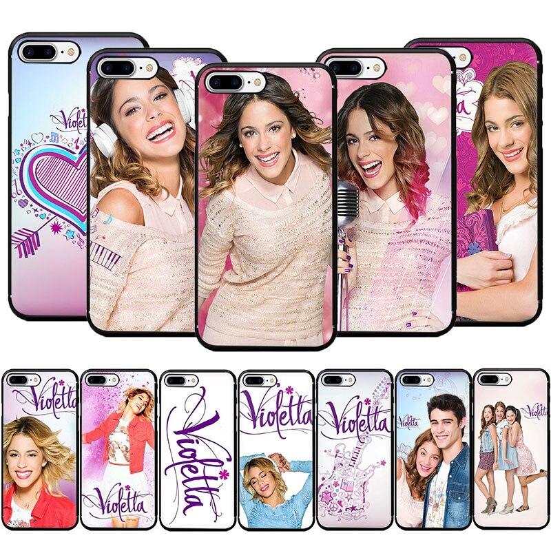 Violetta Tv Soft Tpu Phone Case Voor Iphone Se 2020 11 Pro 5 5 S 6 6 S 7 8 plus X Xr Xs Max