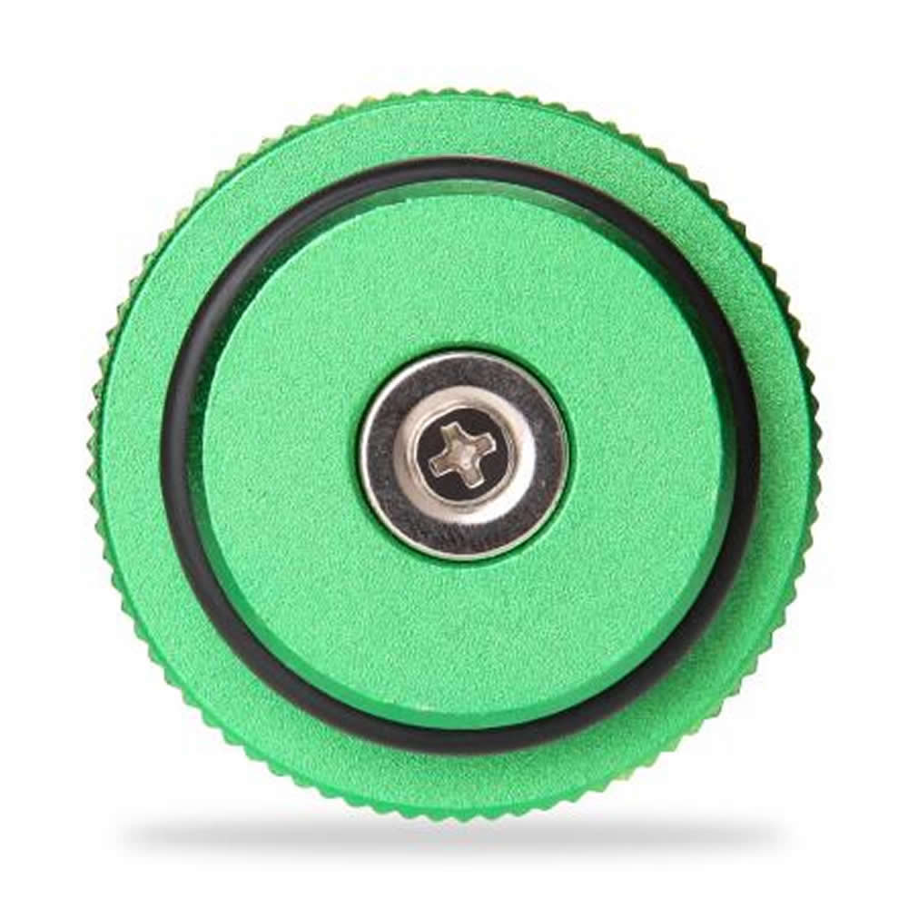 Green Billet Aluminum Magnetic Diesel Fuel Cap for Diesel 2013-2017 Dodge Ram (green cap)
