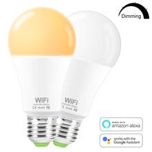 WiFi Smart Birne B22 E27 LED Licht Birne 85-265V Smart Home APP Drahtlose Fernbedienung Licht Timer mit Alexa Google Assistent