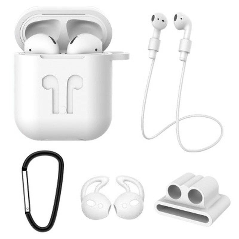 5 unids/set de funda suave de silicona para Airpods para auriculares a prueba de golpes, funda protectora para iphone 7 8, accesorios para auriculares