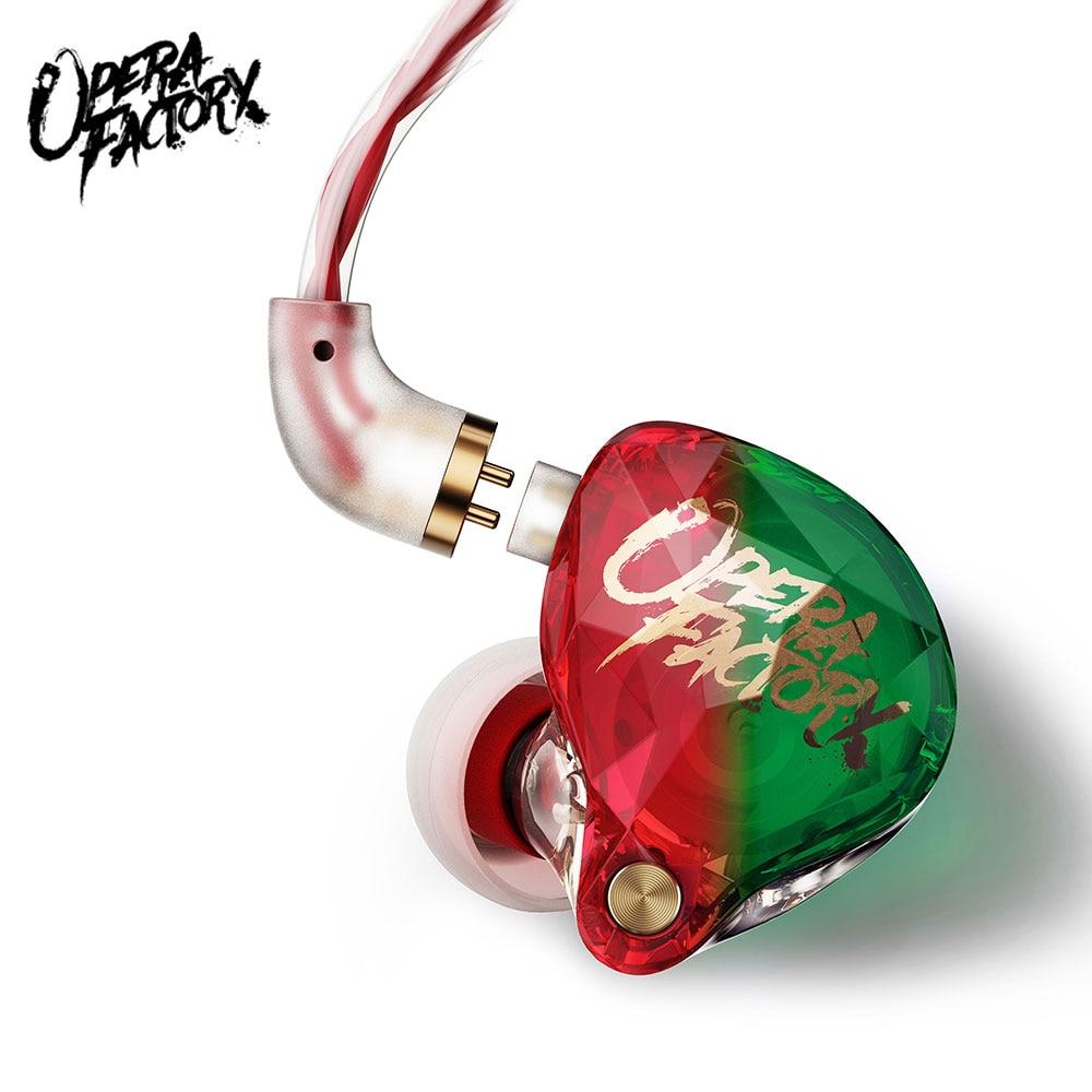New OM1 Audio Diamond Bass DJ Super bass Earphone Headset Earplug 2Pin HIFI Earphone 3.5mm In Ear Earphone Dynamic Drive