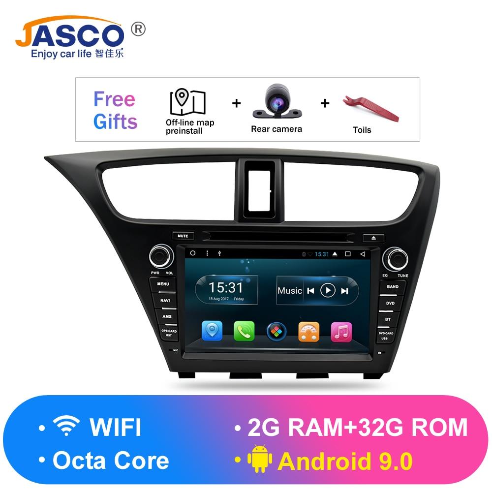 Android 9.0 carro estéreo dvd para honda civic hatchback 2013 + rádio automático rds gps glonass navegação áudio vídeo multimídia bluetooth