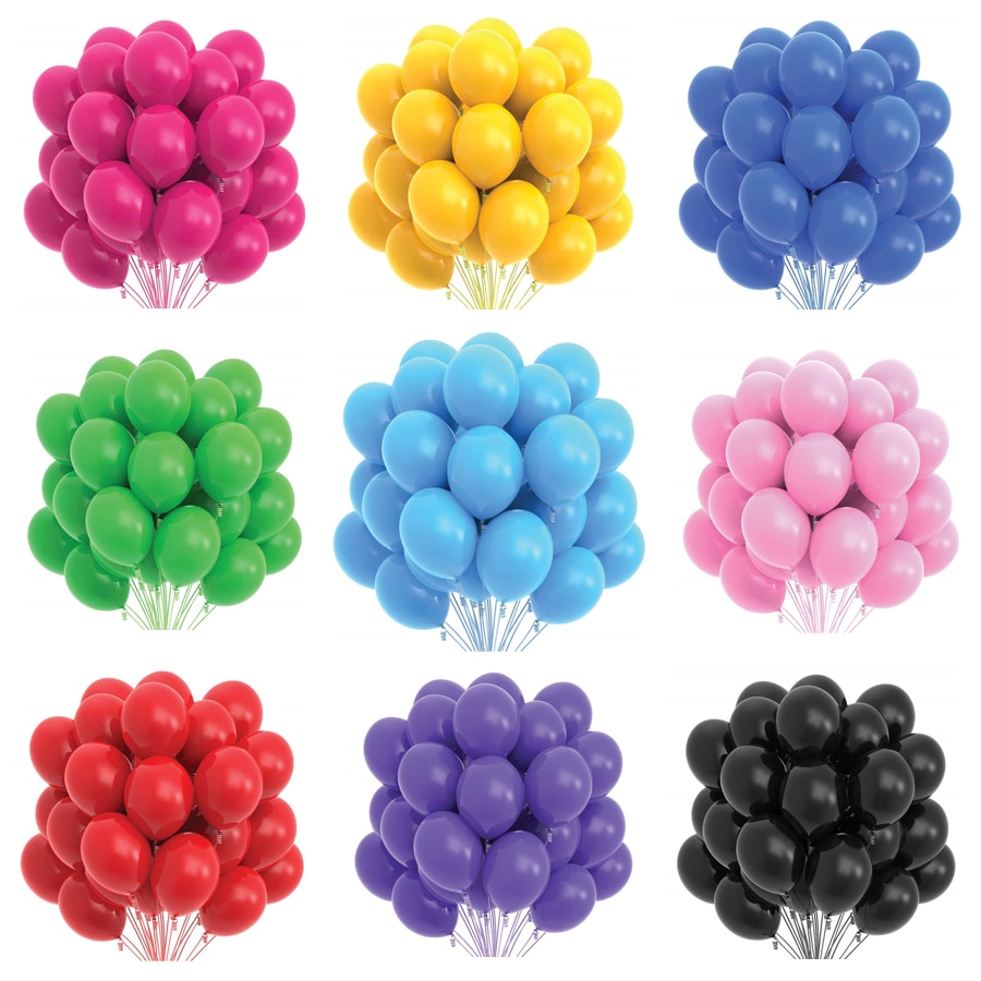 10/20/30/50Pcs Gold Black pink Latex Balloons Birthday Party Adult Wedding Decorations Helium Baby S