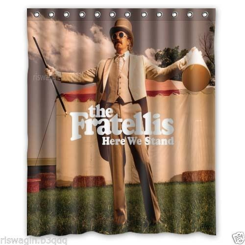 New The Fratellis Custom Fabric Shower Curtain