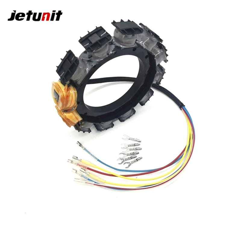 Outboard Stator For Mercury 1987-1997(45JET,50,55,60,65 JET,70,75,80,90&95HP–3Cyl) 174-9710K1 398-818535A18 398-9710A28 F747095 enlarge
