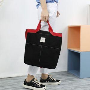 Women Zipper Shoulder Bag Cotton Canvas Handbag Casual Tote Female Eco Crossbody Bag Ladies Vintage Messenger Bags