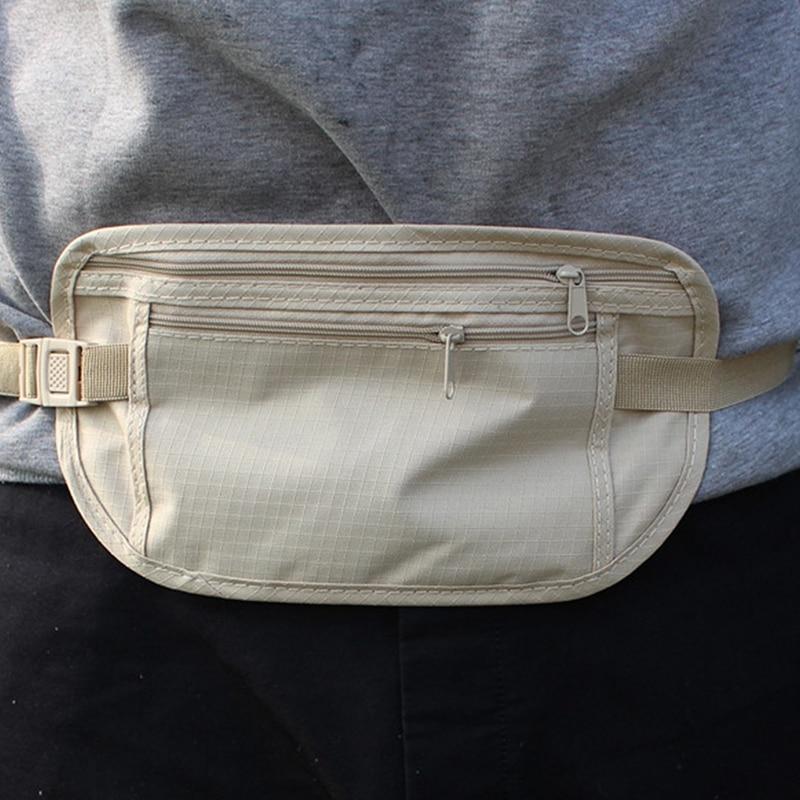 Unsichtbare Mini Reise Taille Pack New fashion Zipper Taille tasche Geld Passport Gürtel Tasche Sicherheit Brieftasche wertsachen lagerung paket
