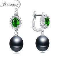 genuine natural pearl earring womentrendy trinket bridal 925 silver earring girl birthda gift