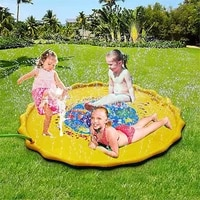 100170cm children play water mat outdoor game toy lawn for children summer pool kids games fun spray water cushion mat toys