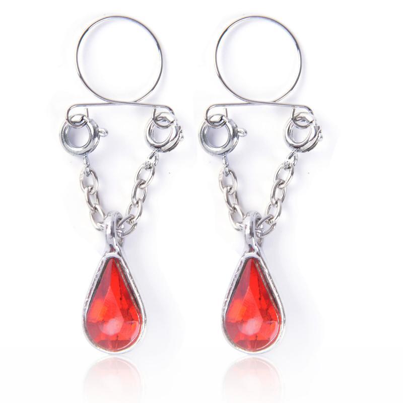 1 pçs moda piercing jóias feminino corpo piercing peito parafuso do prego sino pingente falso nipple anel jóias de aço inoxidável