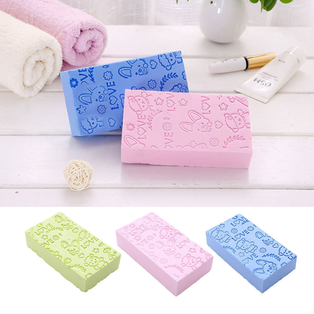 Bath Sponge Lace Printed Scrub Shower Baby Bath Scrubber Exfoliating Beauty Skin Care Sponge Face Cl
