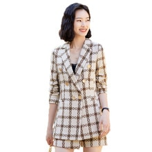 Fried Street Xiaoxiang Socialite Style Business Suit Female 2021 Spring New Dignified Goddess Fan Hi