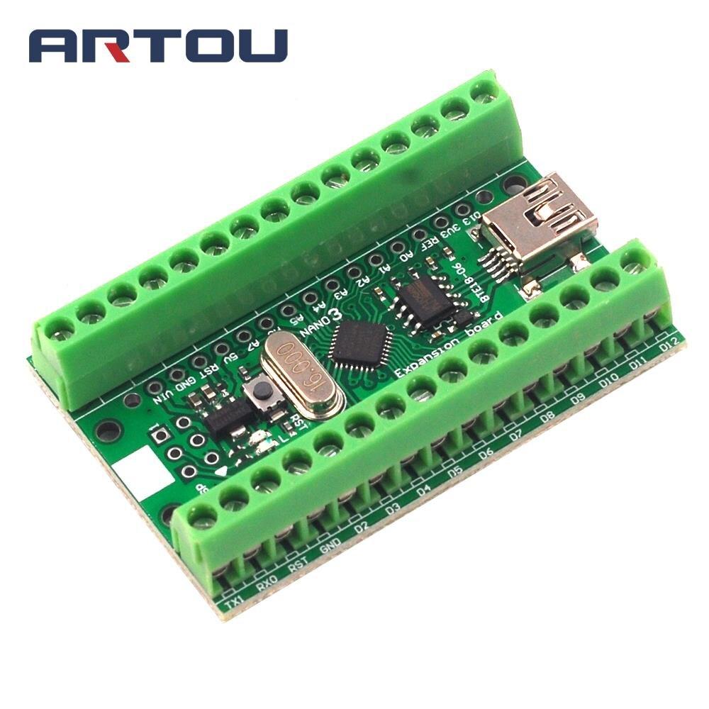 CH340G CH340 Nano V3.0 ATMEGA328P Módulo de Terminal tarjeta de expansión microcontrolador Micro USB para Arduino UART