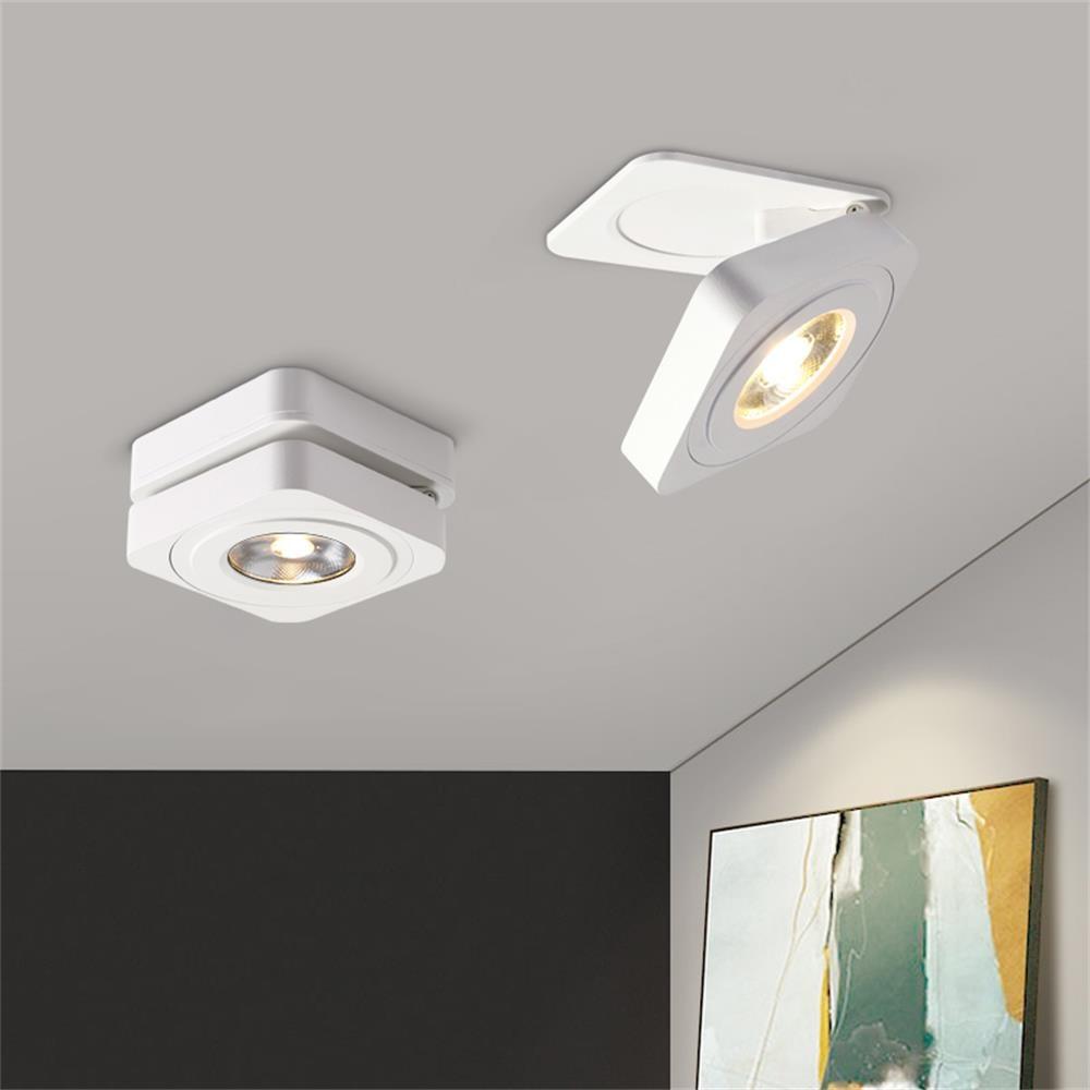 Luces de techo, lámpara Led moderna Simple, foco empotrado/montado en superficie, luz iluminación de techo Led habitación 7W 10W AC110V 220V