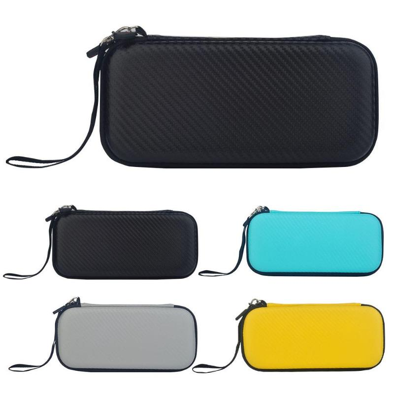 Estuche rígido de EVA para viaje, bolsa de transporte a prueba de golpes, apto para Nintendo Switch Lite Mini que contiene 10 ranuras de bolsa de malla encriptada