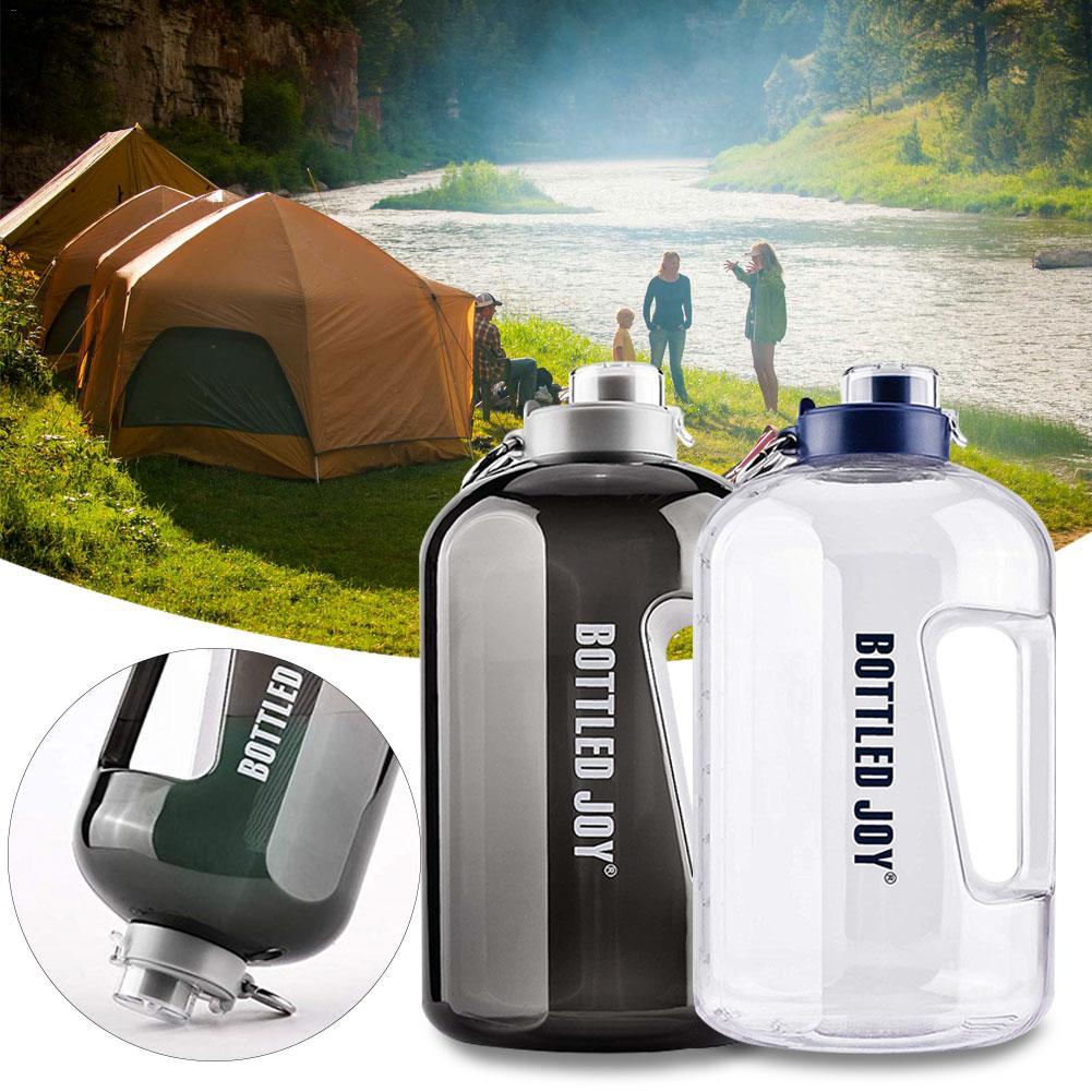 Botella de agua al aire libre de 1 galón botella de agua portátil de Camping gimnasio botella de agua de gran capacidad botella de bebidas frías calientes BPA botella de deporte PETG libre