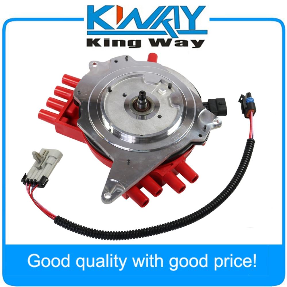 Envío Gratis-distribuidor de ignición con arnés de cable 10457702 tapa roja compatible con CHEVY PONTIAC