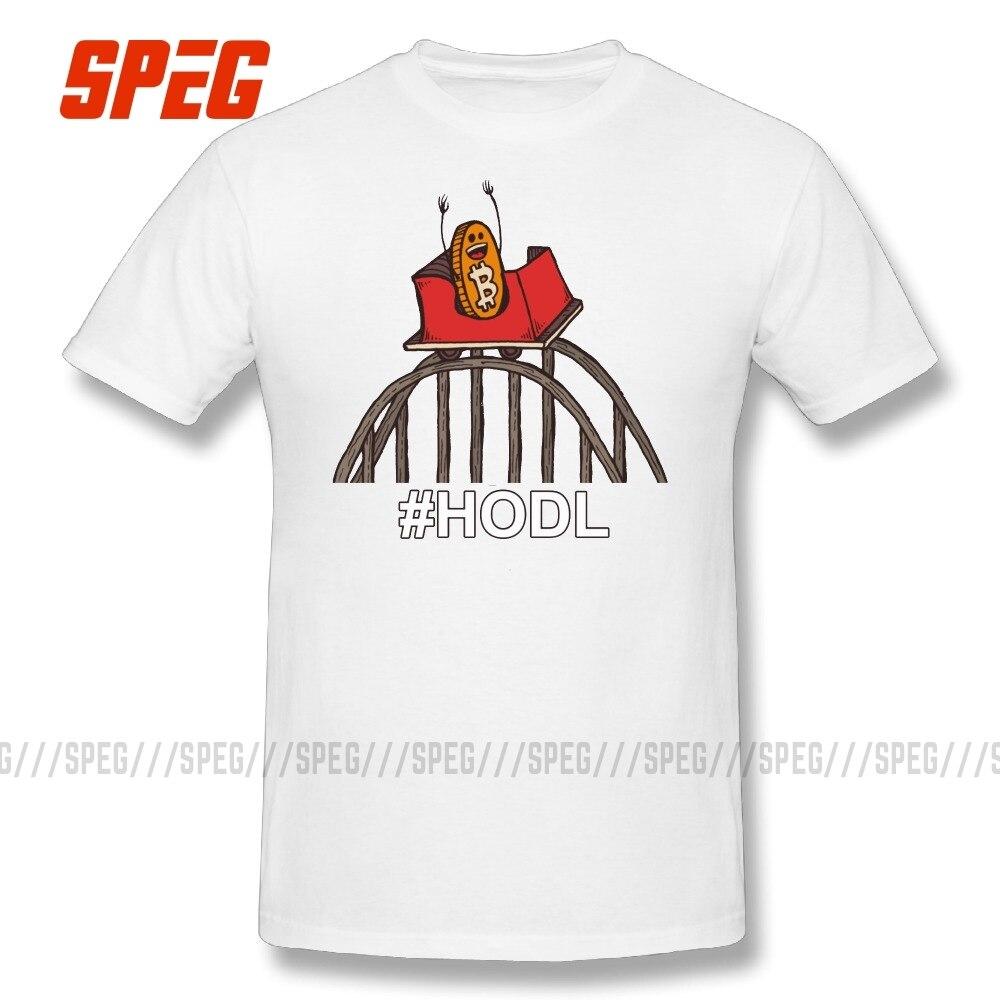 Camiseta Bitcoin Rollercoaster To the Moon, camisetas de repuesto de cuello redondo, camisetas de manga corta, Tops 100% de algodón