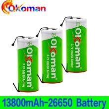 100% Original 26650 3.7 v 13800mah 18650 Lithium Rechargeable Battery For power tool Welding Nickel Sheet batteries pack