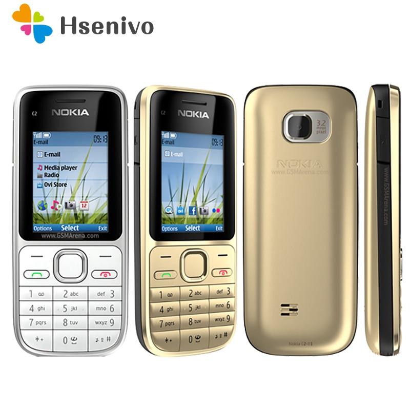 Nokia C2-01 отремонтированы в «Мои желания» оригинальный Nokia C2-01 разблокирован мобильный телефон 2,0 дюйм 3.2MP Bluetooth GSM/WCDMA 3G телефон Бесплатная доставка