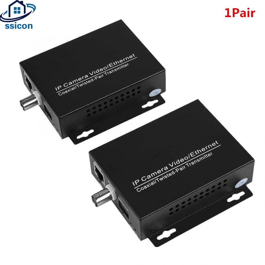 1Pair Ethernet IP Extender Over Coaxial HD Network Kit EoC Coaxial Cable Transmission Extender For Security CCTV Cameras enlarge