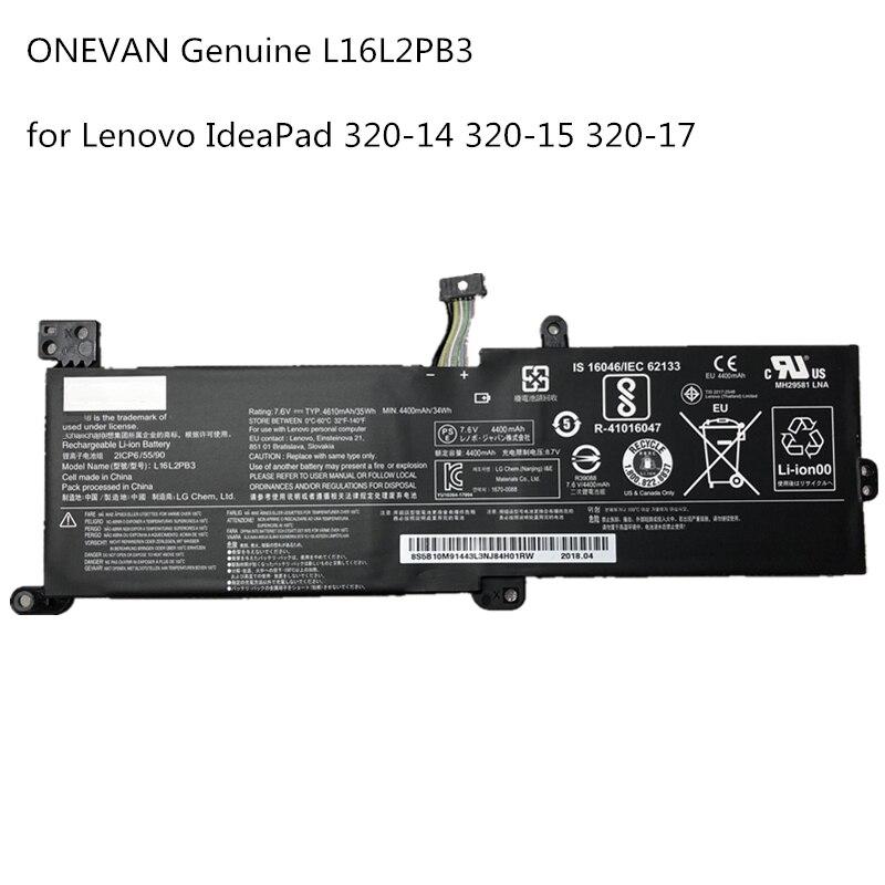 ONEVAN de L16L2PB3 batería para portátil Lenovo Ideapad320-14AST 520-15IKBR 320-15AST Yi 5000 L17L2PF1 L16S2PB2 7,6 V 34Wh