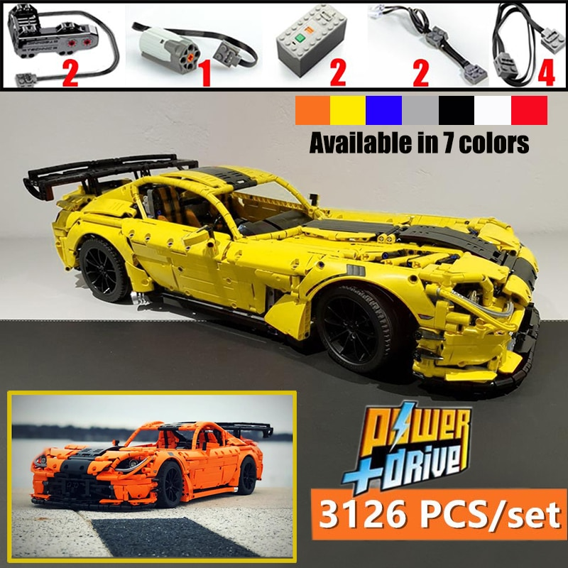 Lepines Technic серия Viper ACR MOC-13655 двойной монстр мотор спортивный автомобиль строительные блоки кирпичи игрушка подарок на день рождения Рождеств...
