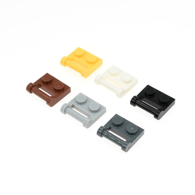 48336 100 pces * placa 1x2 com vara 3.18 * diy iluminar tijolos de bloco, compatível com monta partículas