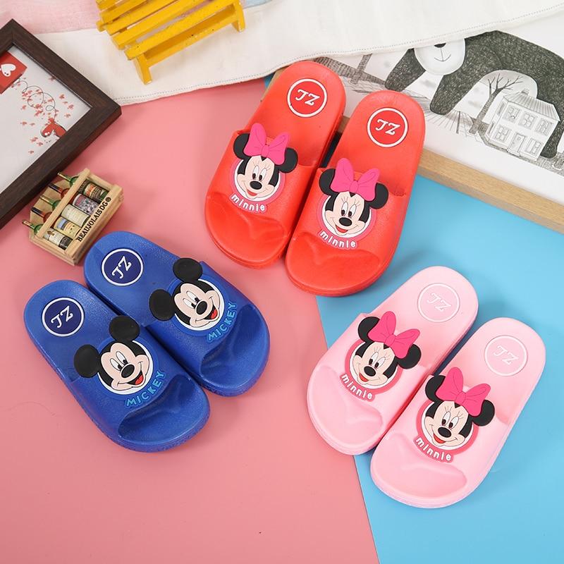 2020 Nieuwe Zomer Kinderen Cartoon Mickey Minnie Mouse Baby Boy Meisje Slippers Kid Antislip Slipper Strand Schoenen Flip Flop Eur 24-35