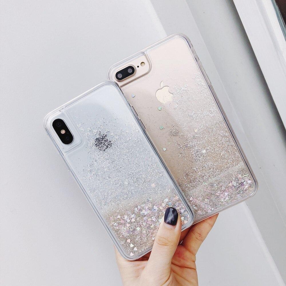 Capa de areia rápida para iphone, cores brilhantes e prata esterlina para iphone 11 pro max xr xs max xs 7 8 plus