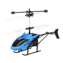 D715-1 Flying Mini Infrared Induction RC Helicopter Aircraft USB Charge LED Flashing Light Drone Rem