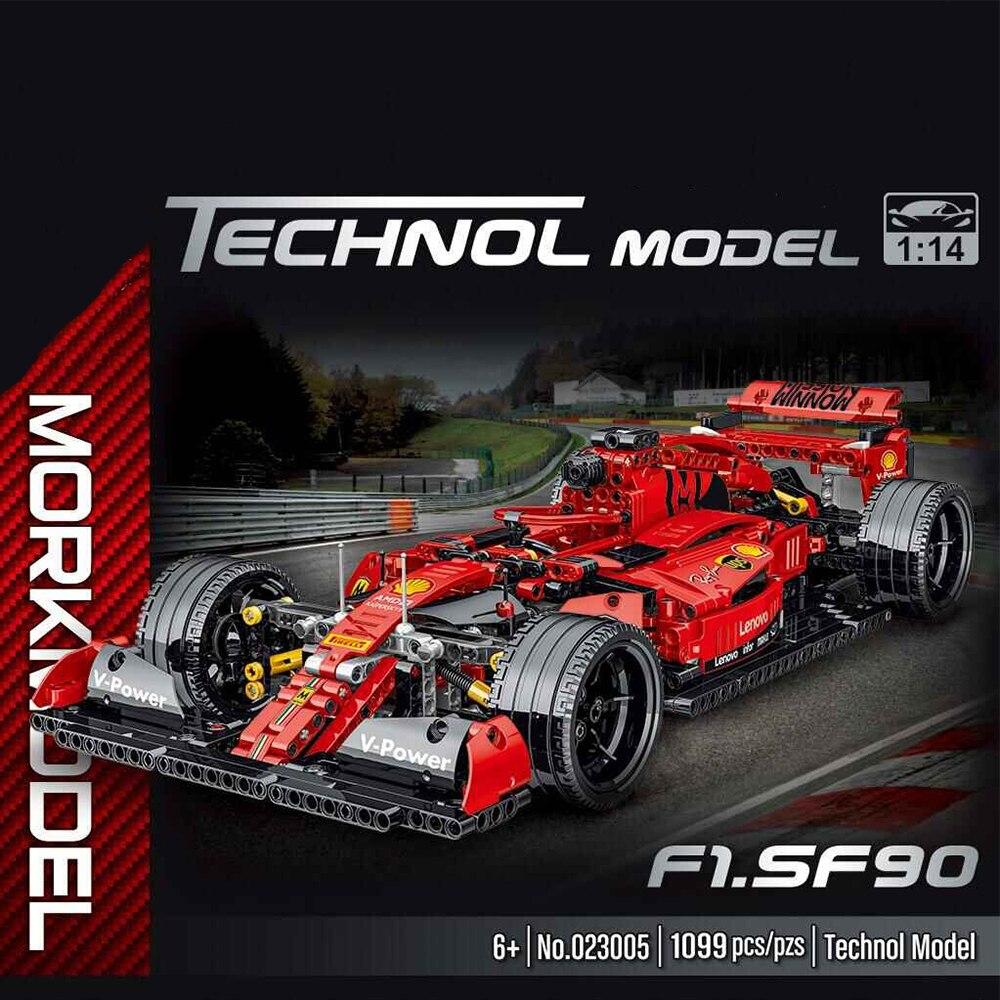 Technical Series 1100pcs Simulation F1 Racing Car Model Building Blocks Creator Car Toys Children Kids Christmas Toys Boys Gifts