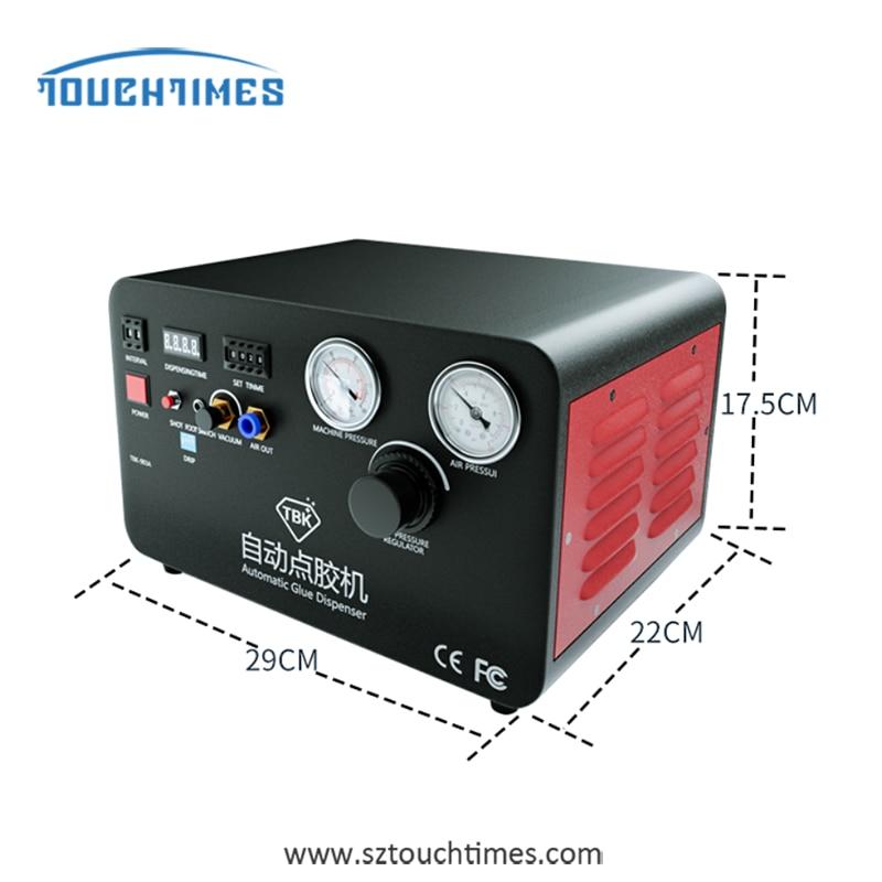 TBK-983A Built-In Pump Automatic Glue Dispenser For Iphone x Bracket Dripping Glue Injection Phone Repair Refurbishment Machine enlarge