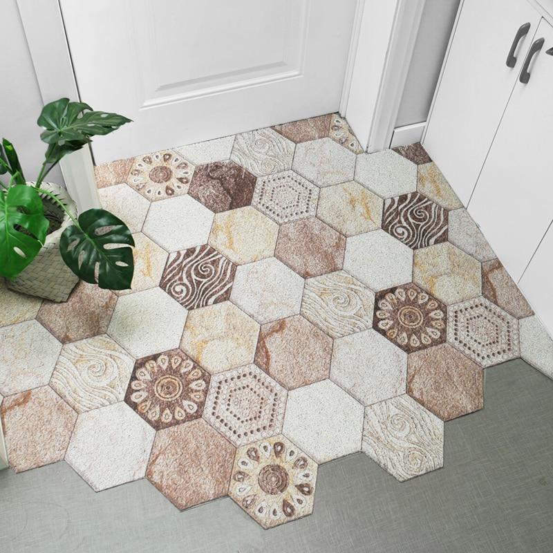 Anti-slip PVC Silk Loop Door Mat Custom Irregular Shape Carpet Bathroom Mat Can Be Cut Home Carpet Kitchen Mat Entrance Doormat