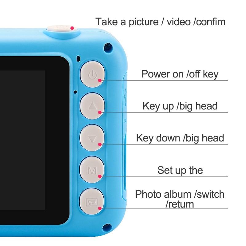 Child Camera Digital Camera 3.5 inch Cute Cartoon Camera Toys Children Birthday Gift 12MP 1080P Photo Video Camera For Kids enlarge