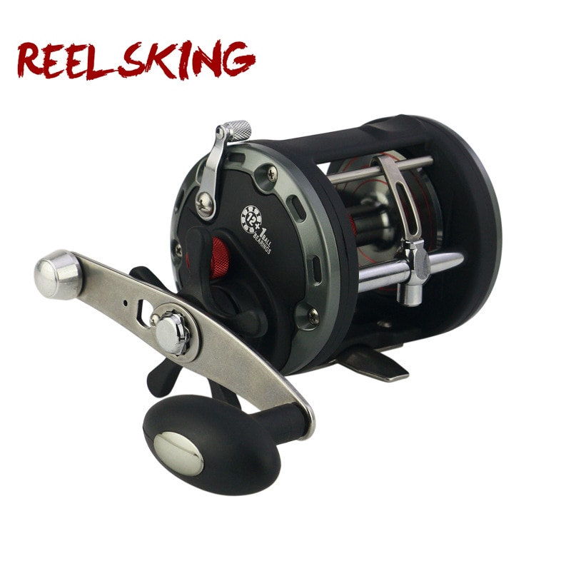 Carrete de tambor REELSKING Max Drag 20kg mano derecha Pesca carrete redondo Baitcasting alto Ratio de engranaje carrete de Pesca de Mar JCB