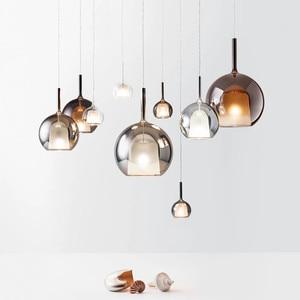 modern restaurant pendant lights glass globe hanglamp single head glass pendant lamp indoor home lighting fixtures