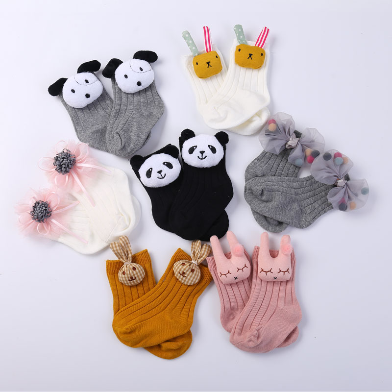 meias de algodao infantis com desenho de animais 2 pares meias infantis fofas para
