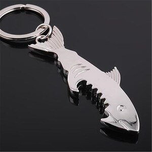 Hot Shark Glossy Opener Metal Keychain Creative Pendant keychain Hanging Holiday Gifts women