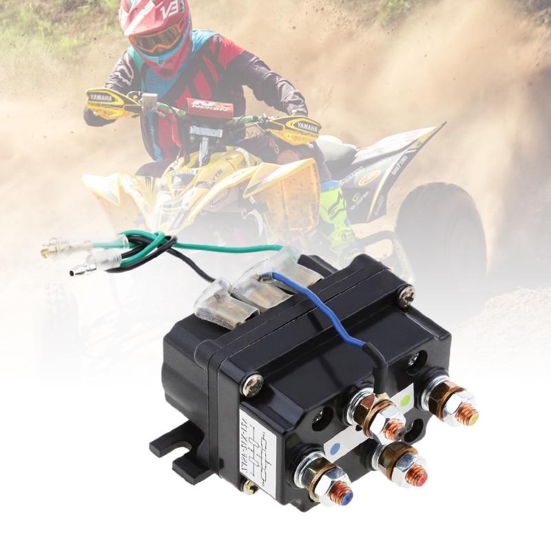 Interruptor basculante Universal de relé de solenoide de 12V, 500A 95001bs-17000lbs para ATV/UTV 4WD 4x4 cabrestantes 80*7,5*40,5mm