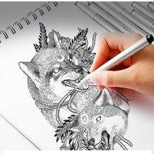 10pcs Black Micron Neelde Marker Pen Waterproof Pigment Fine Line For Drawing Writing Hand-Paint Anime Art Supplies Marker Pens