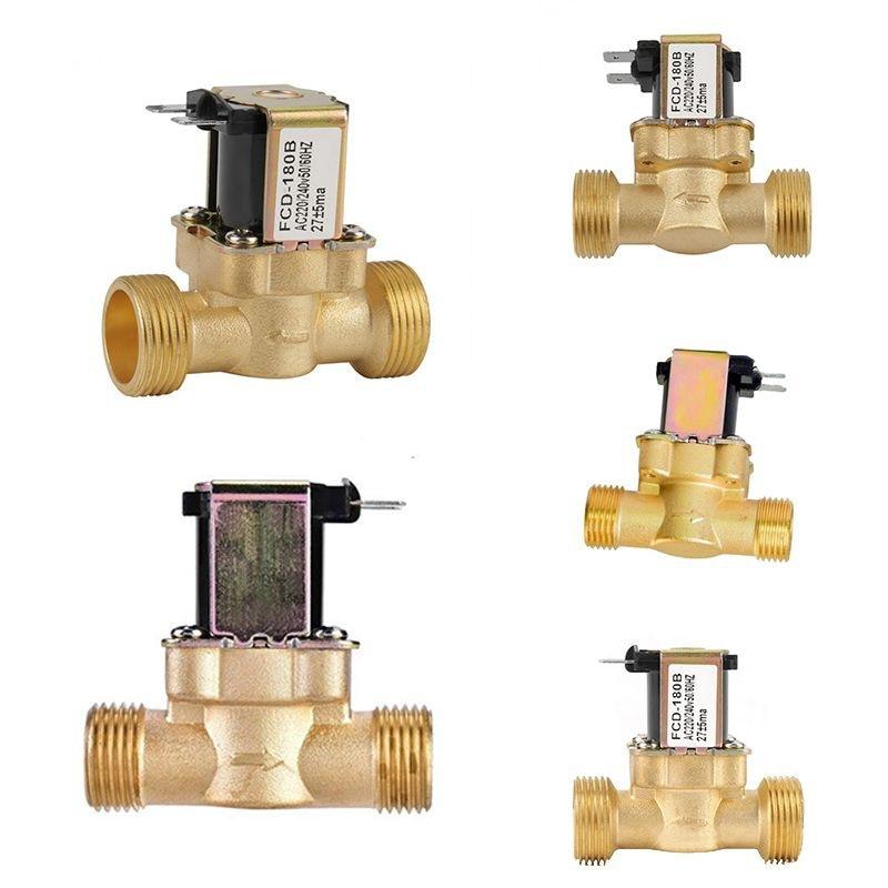 Electro Solenoid Valve Copper Body Water Valve Moisture Proof Corrosion Resistance
