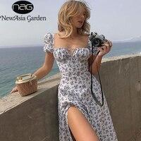 Длинное платье с цветочным принтом Посмотреть