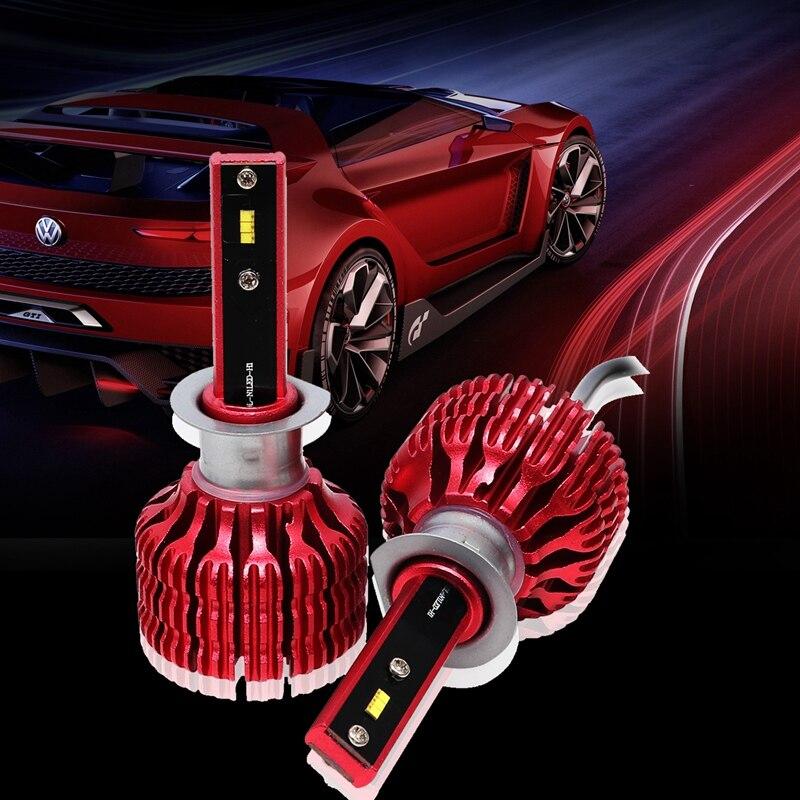 H1 X9 2 uds bombillas LED de faro delantero de coche 6000K 36W 1800LM faro LED de niebla de la luz roja